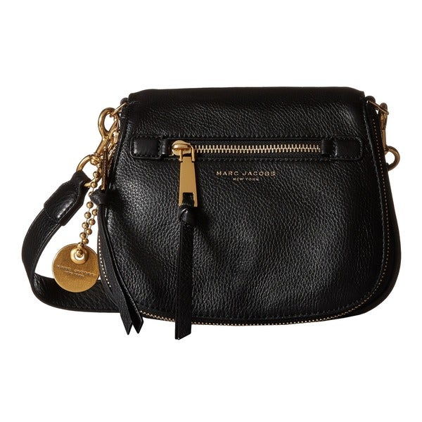 Marc Jacobs Recruit Black Leather Small Saddle Handbag