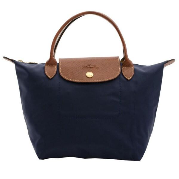 Longchamp Le Pliage Navy Nylon and Leather Fashion Backpack