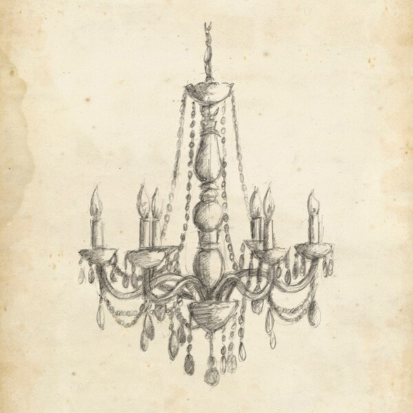 Marmont Hill - 'Classical Chandelier II' Painting Print on Wrapped Canvas