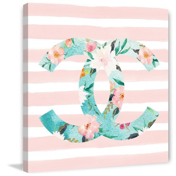 Marmont Hill - 'Floral C' by Melanie Clarke Painting Print on Wrapped Canvas