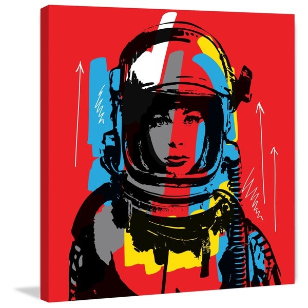Marmont Hill - 'Astro II' by Josh Ruggs Painting Print on Wrapped Canvas