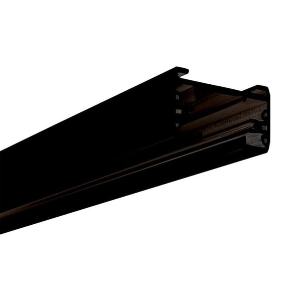 Lithonia Lighting LTS8 DBL M6 Black 8-foot 1-Circuit Track Section With End Caps