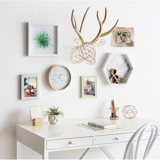 Kate and Laurel Milty Faux Mounted Deer Head Metal Wall Art