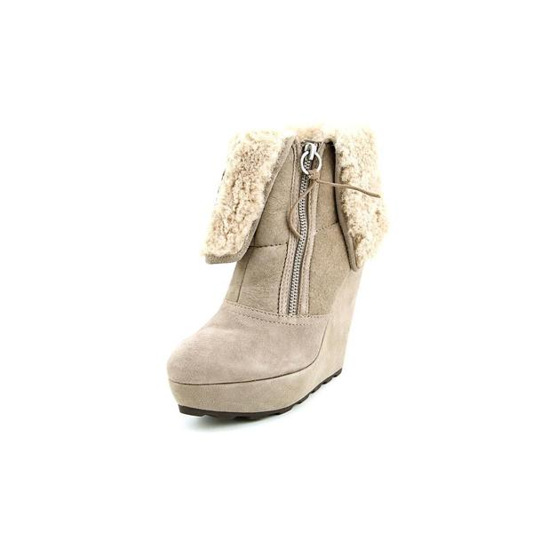 Ash Women's Folk Beige Regular Suede Boots