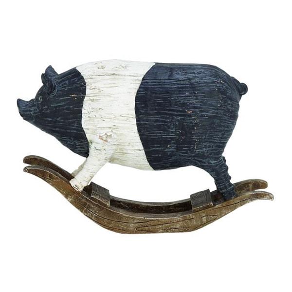 Benzara Wooden Pig Figurine