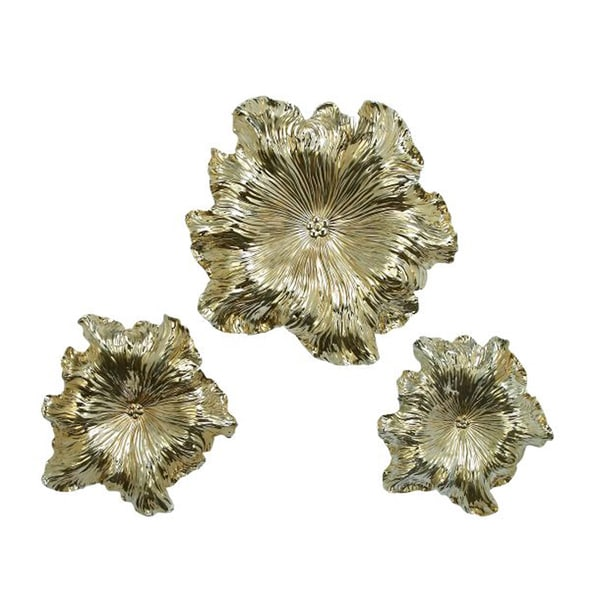 Benzara Gorgeous Polystyrene Wall Flower (Pack of 3)