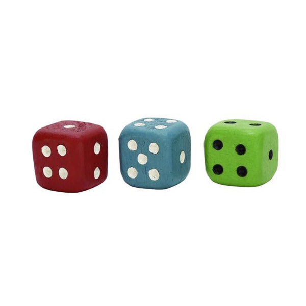 Benzara Cool Wood Dice (Pack of 3)