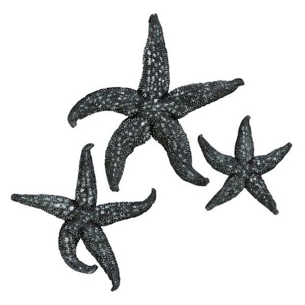 Benzara Polystyrene Resin Starfish Wall Art (Pack of 3)
