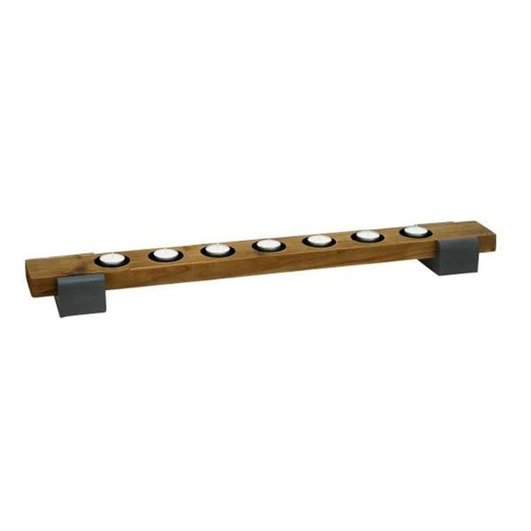 Benzara Wood and Metal Candle Holder 21593251