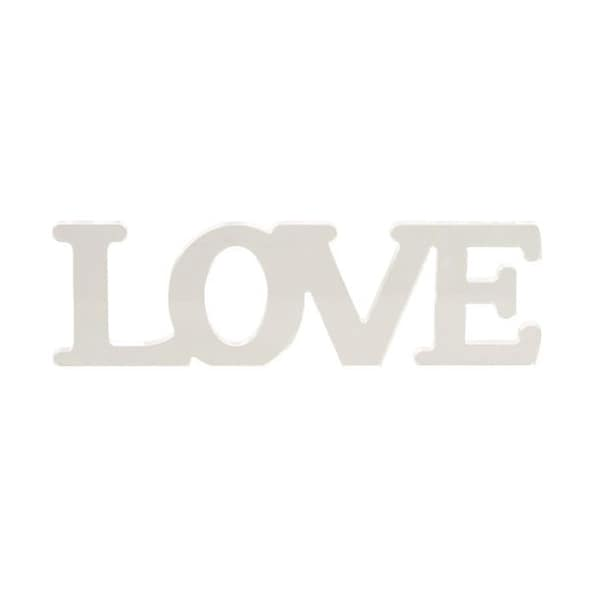 Benzara 'Love' White Acrylic Sign