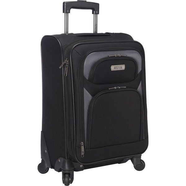 Kenneth Cole Reaction Black 20-inch Expandable Carry-on Spinner Suitcase 21593357