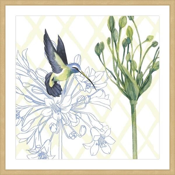 Marmont Hill - 'Hummingbird Dance III' Framed Painting Print