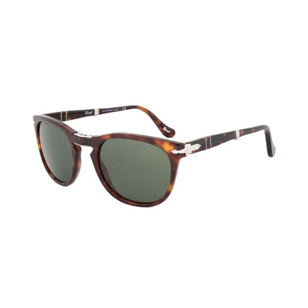 Persol Grey Lens Folding Havana Frame Sunglasses