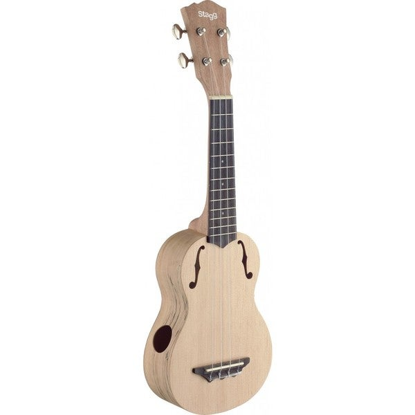 Stagg USX-SPA-S Spalted Maple Wood Traditional Soprano Ukulele