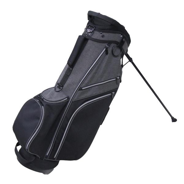 RJ Sports SB-595 Deluxe Black/Grey Nylon 9-inch Golf Stand Bag