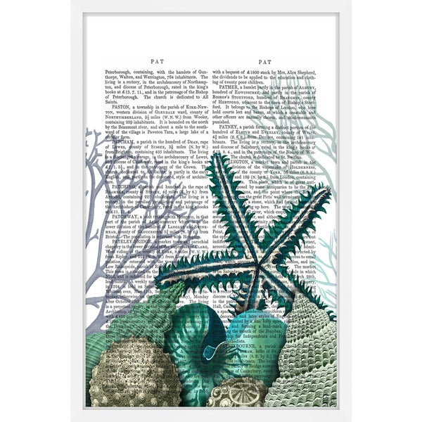 Marmont Hill - 'Starfish under the Sea' Framed Painting Print