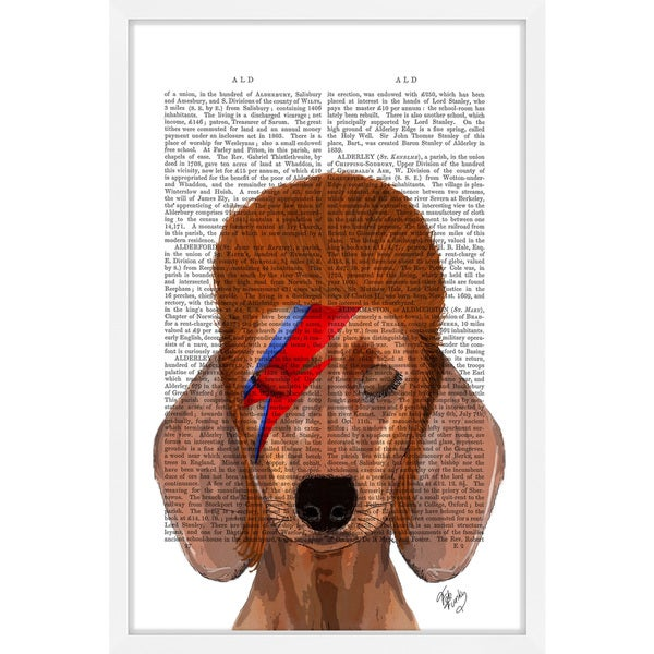 Marmont Hill - 'Aladdin Sane Dachshund' Framed Painting Print