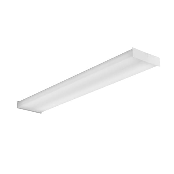 Lithonia Lighting White Meral 4-foot LED Surface Wraparound Light