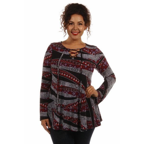 Enchantress Printed Plus Size Tunic Top