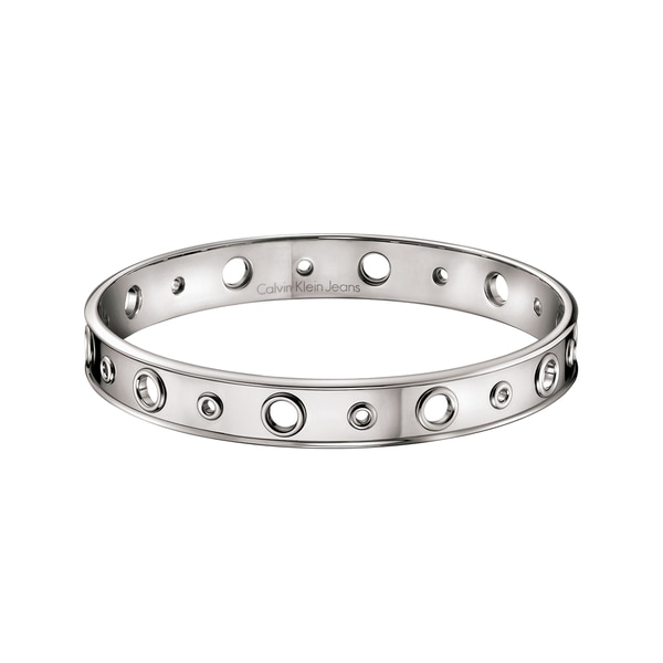 Calvin Klein Women's Notch Stainless Steel Thin-band Fashion Bracelet 21607249
