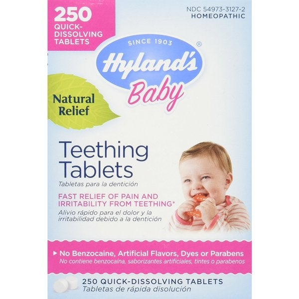 Hyland's Baby Natural Relief Teething Tablets (250 Tablets)