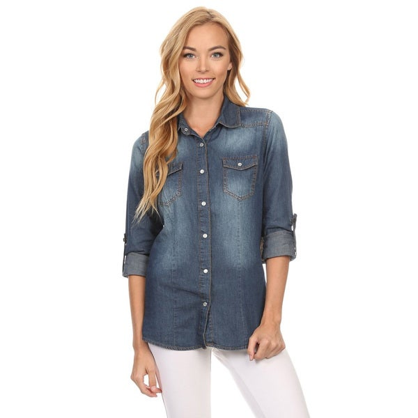 Women's Denim Button-down Shirt