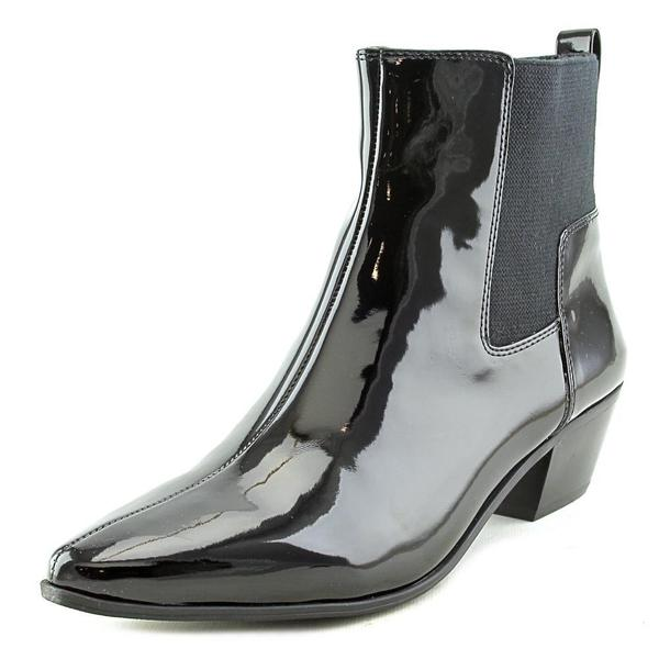 Nine West Women's Travers Black Patent Leather Boots
