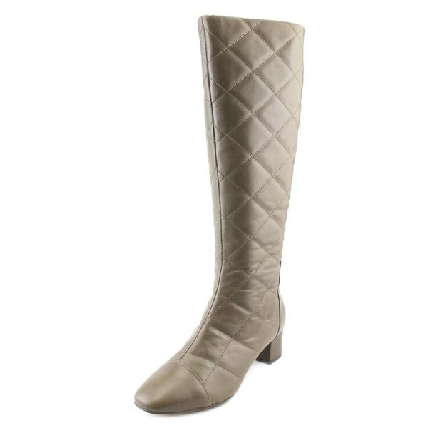 Nine West Women's Aldar Grey Leather Boots