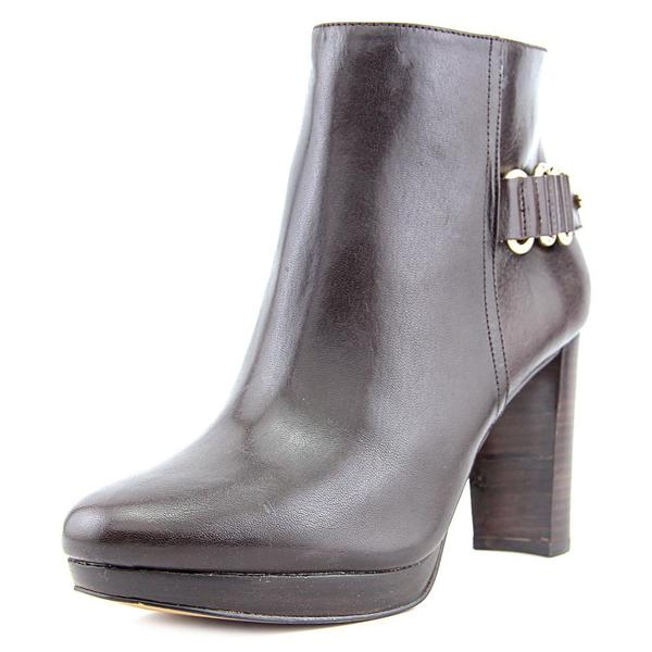 Nine West Women's Kali Brown Leather Boots
