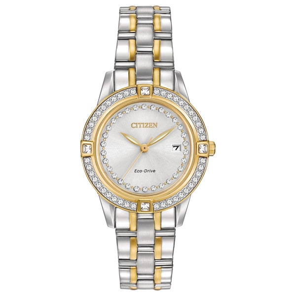 Citizen Eco-Drive Women's FE1154-57A Silhouette Crystal Watch (As Is Item) 21609311