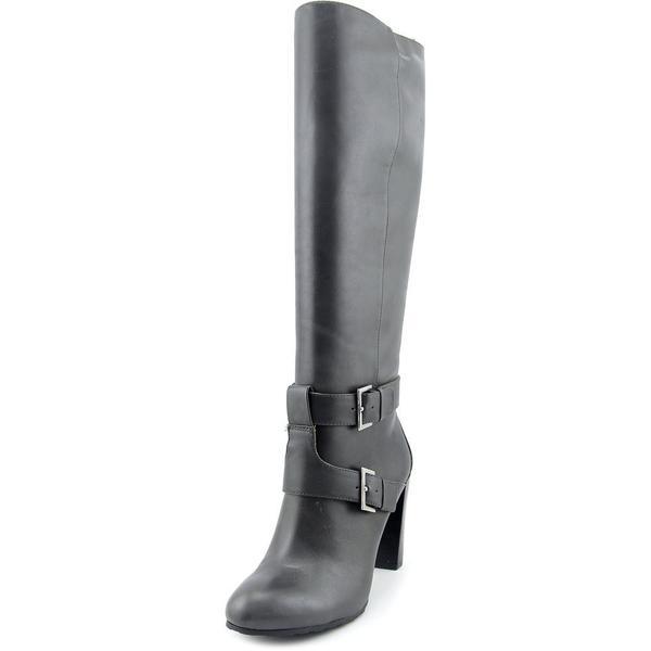 Nine West Women's Skylight Grey Leather Boots