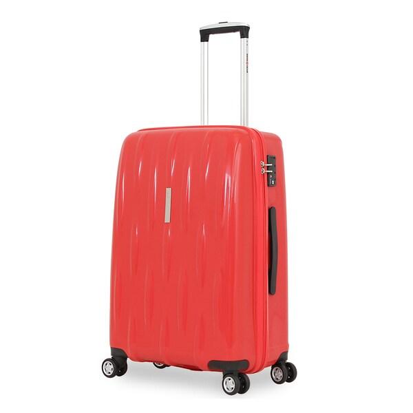 SwissGear 24-inch Orange Hardside Spinner Suitcase