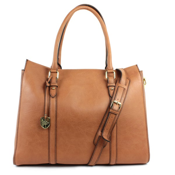 London Fog Croft Faux Leather Tote Bag
