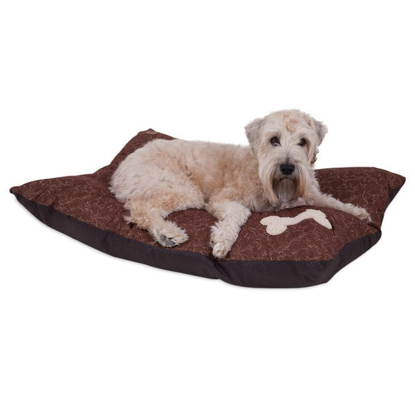MuttNation Fueled by Miranda Lambert Bone Applique Pillow Dog Bed