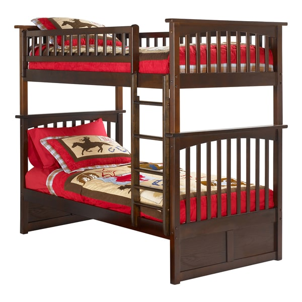 Atlantic Columbia Walnut-colored Twin-over-twin Bunk Bed