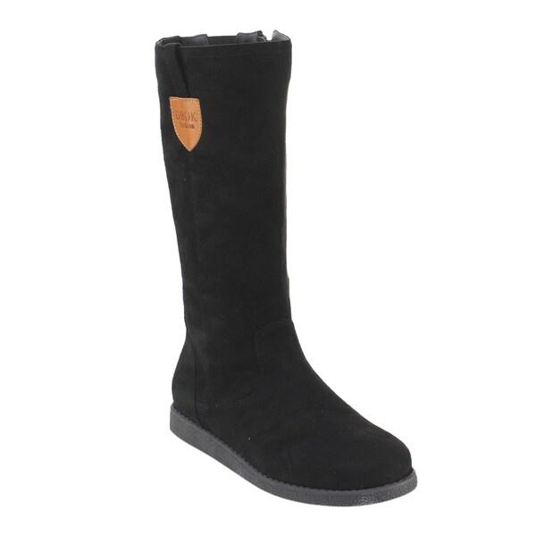 DBDK Women's AE23 Faux-suede Low-platform Flat-heeled Winter Boots