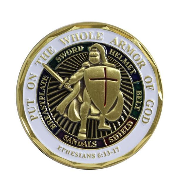 Rush Industries 'Put on the Whole Armor of God, Ephesians 6:13-17' Black Metal Soldier Challenge Coin