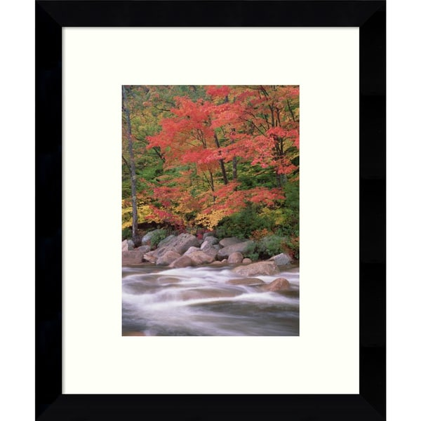 Framed Art Print 'Autumn along Swift River, White Mountains National Forest, New Hampshire (II)' by Tim Fitzharris 9 x 11-inch