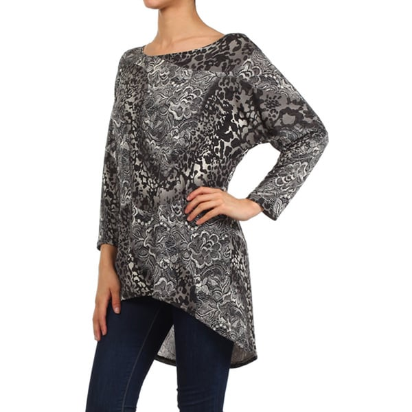 Women's Flower Cheetah Tunic