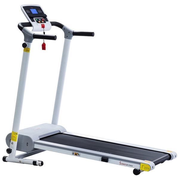 Sunny Health & Fitness SF- T7610 White Easy Assembly Motorized Treadmill