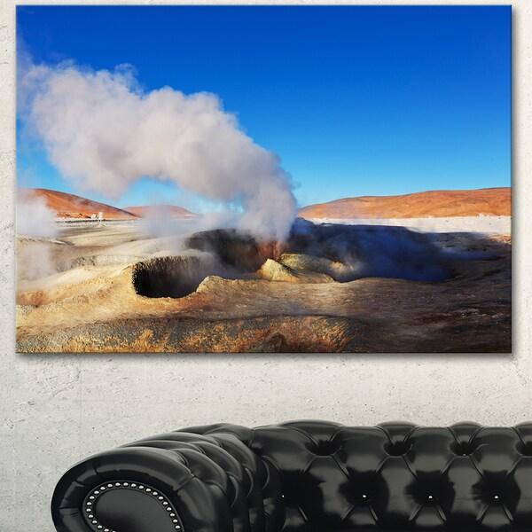 Geyser Sol De Manana Bolivia - Extra Large Landscape Canvas Art