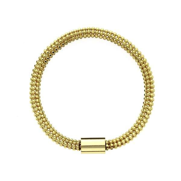 Isla Simone - 18 Karat Gold Electro Plated Flexible Bead Chain Tube Bracelet