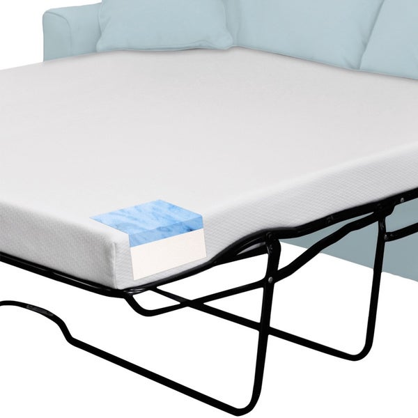 Select Luxury Twin-size Sleeper Sofa Replacement Gel Memory Foam Mattress