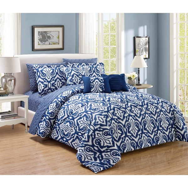 10-Piece Native Comforter and Sheet Set