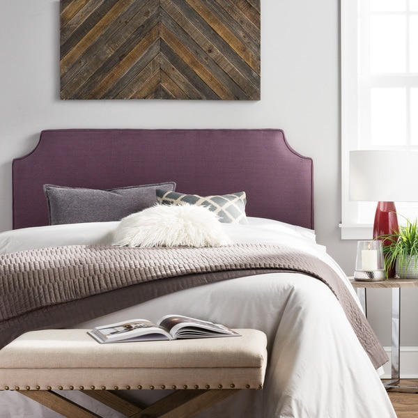 Humble + Haute Raleigh Queen Size Iris 100% Linen Upholstered Headboard