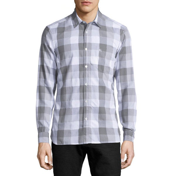 Burberry Julian Grey Buffalo Check Shirt (Size L)