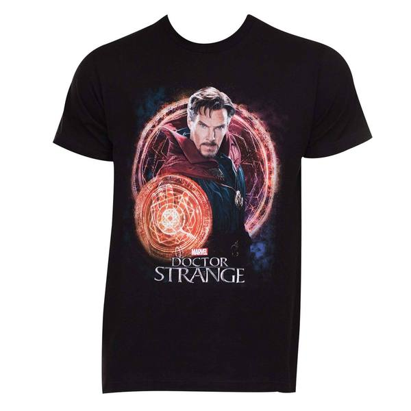 Doctor Strange Portal Black Cotton T-shirt