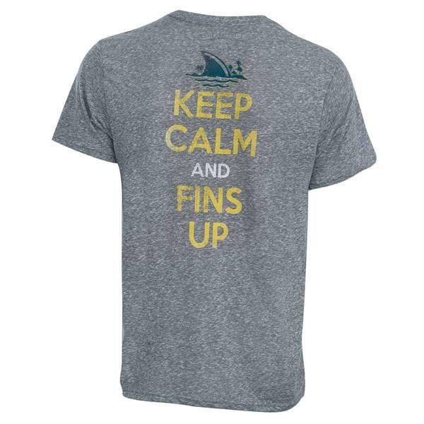 Grey Cotton and Polyester Landshark Keep Calm Tee Shirt