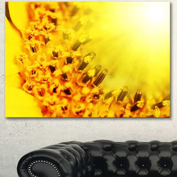 Bright Yellow Sunflower Close-Up - Floral Artwork on Canvas