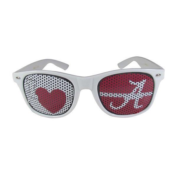 NCAA Alabama Crimson Tide Sports Team Logo I Heart Game Day White Polycarbonate Shades 21626328